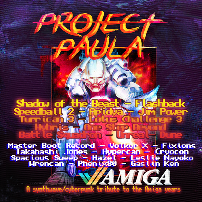 Project Paula - A synthwave/cyberpunk tribute to the Commodore Amiga