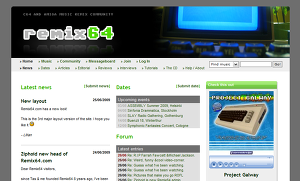 Remix64 Layout Version 3, used 2009 until present day. Screenshot shows the page as of June 2009